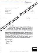 Faksimile - Mitteilung DEUTSCHER PRESSERAT zur Causa STERN und falsche Holocaust-Fotos