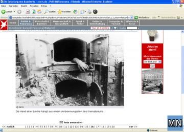 Screenshot Online-Ausgabe des STERN vom 3.4.2005