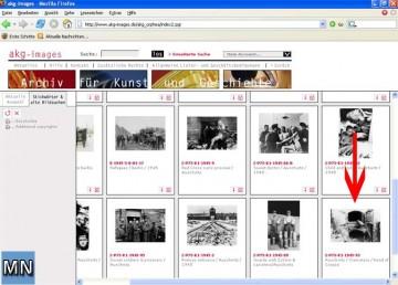 Screenshot am 1.4.2005 vom Portal von AKG-Images GmbH