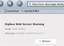 Kein Zutritt mehr zum Portal von AKG-Images.de
