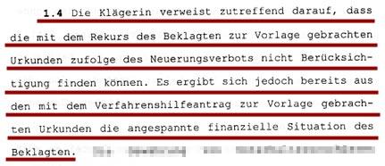 Faksimile aus dem Beschluß des OLG Wien